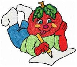 Tommy Tomato embroidery design