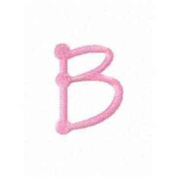 Tinkertoy Letter B embroidery design