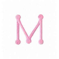 Tinkertoy Letter M embroidery design