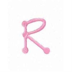 Tinkertoy Letter R embroidery design