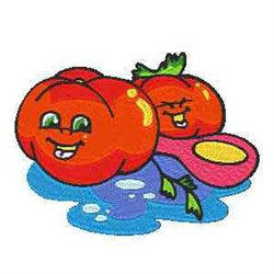 Happy Tomatoes embroidery design