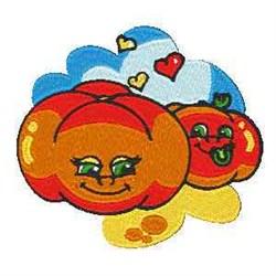Love Tomato embroidery design
