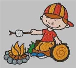Campfire Boy embroidery design