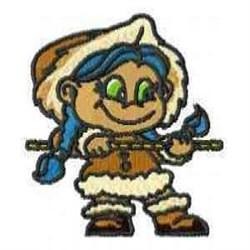 Eskimo Girl embroidery design