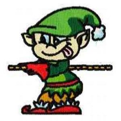 Elf On Rope embroidery design