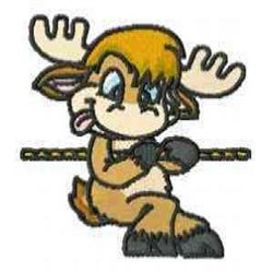 Reindeer Rope embroidery design
