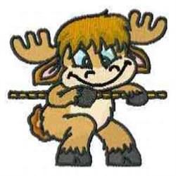 Reindeer Tug embroidery design