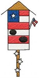 American Birdhouse embroidery design