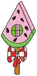 Watermelon Birdhouse embroidery design