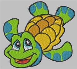 Cartoon Turtle embroidery design