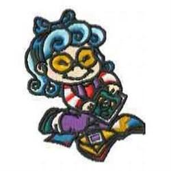 School Girl embroidery design
