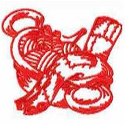 Redwork Knitting embroidery design