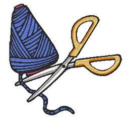 Scissor & Thread embroidery design