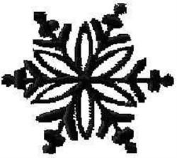 Xmas Snow Flake embroidery design