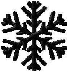 Snow Flake Crystal embroidery design