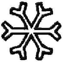 Outline Snowflake embroidery design