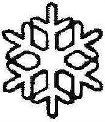 Outline Snow Flake embroidery design