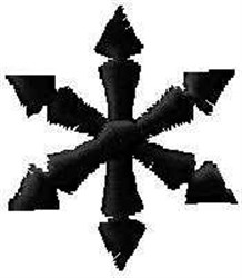 Snowflake Filled embroidery design