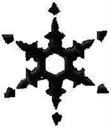 Snow Flake Filled embroidery design