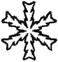 Ice Crystal Outline embroidery design