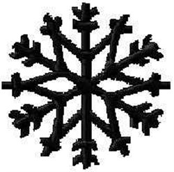 Winter Ice Crystal embroidery design