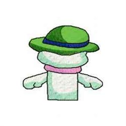 Snowman Puppets Back embroidery design