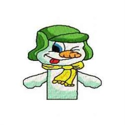 Winking Finger Puppet embroidery design