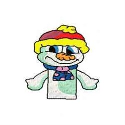 Snow Man Puppet embroidery design