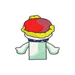 Snow Man  Puppet Back embroidery design
