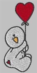 Snowman Valentine embroidery design