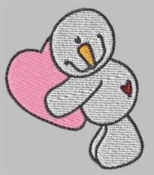 Love Snowman embroidery design