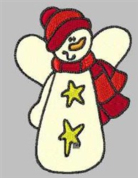 Star Snowman embroidery design