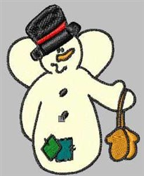 Snowman With Mittens embroidery design