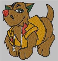 Tough Dog embroidery design