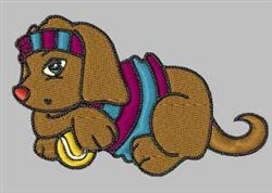 Tennis Dog embroidery design
