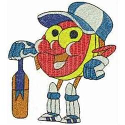 Cartoon Cricket Ball embroidery design