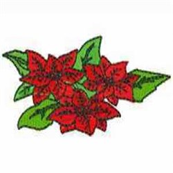 Poinsettia Blooms embroidery design