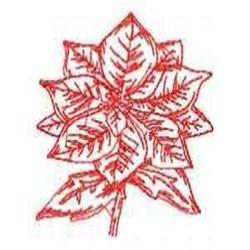 Redwork Poinsettia embroidery design