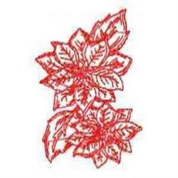 Redwork Blooms embroidery design