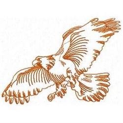 Redwork Eagle embroidery design