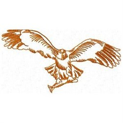 Eagle Wth Fish embroidery design