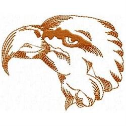 Redwork Eagle Head embroidery design