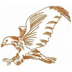 Redwork Bald Eagle embroidery design