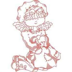 Girl Quilting embroidery design