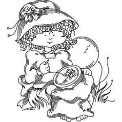 Embroidery Girl embroidery design