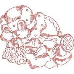 Redwork Seamstress embroidery design