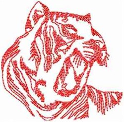 Angry Tiger embroidery design