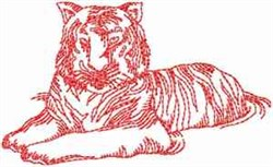 Bengal Tiger embroidery design
