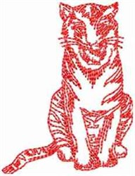 Tiger Cat embroidery design