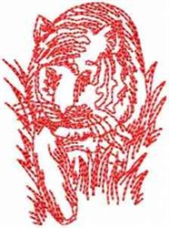 Tiger In Grass embroidery design